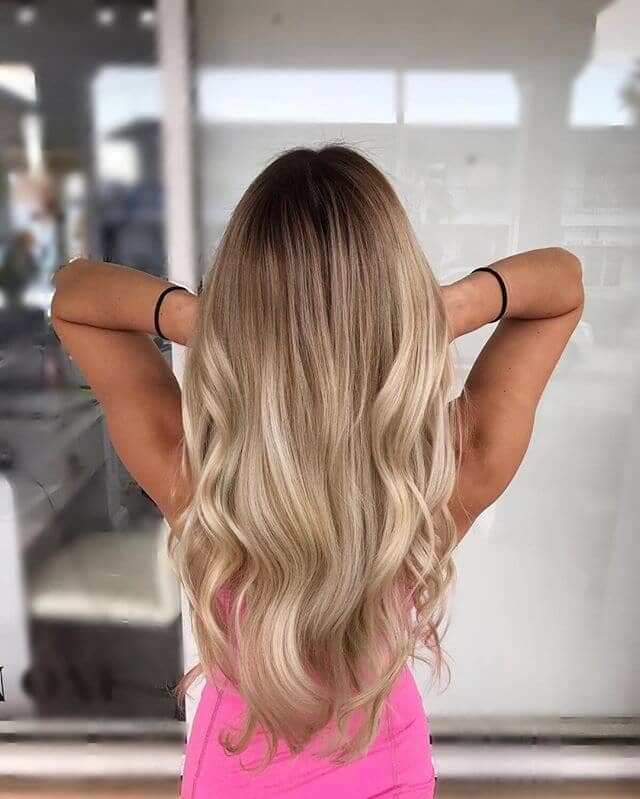 California Girl Long Blond Waves
