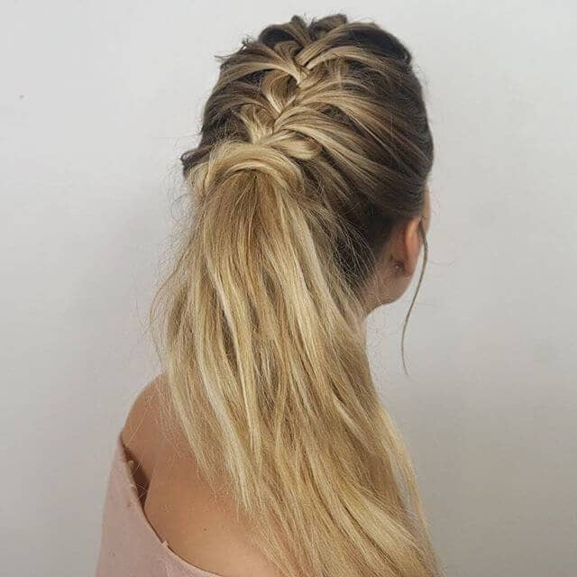 Braided Tresses and Low Ponytail Hair Wrap