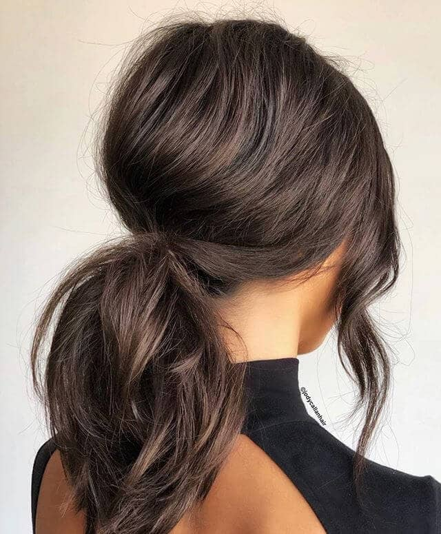 Bouffant Puff Low Ponytail Hairstyle