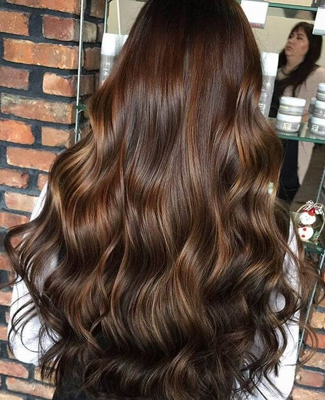 Glossy Gorgeous Chestnut-Toned Curls