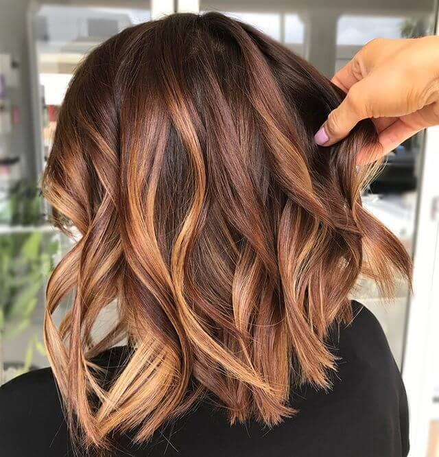 Coppery Curls with Brown Lowlights