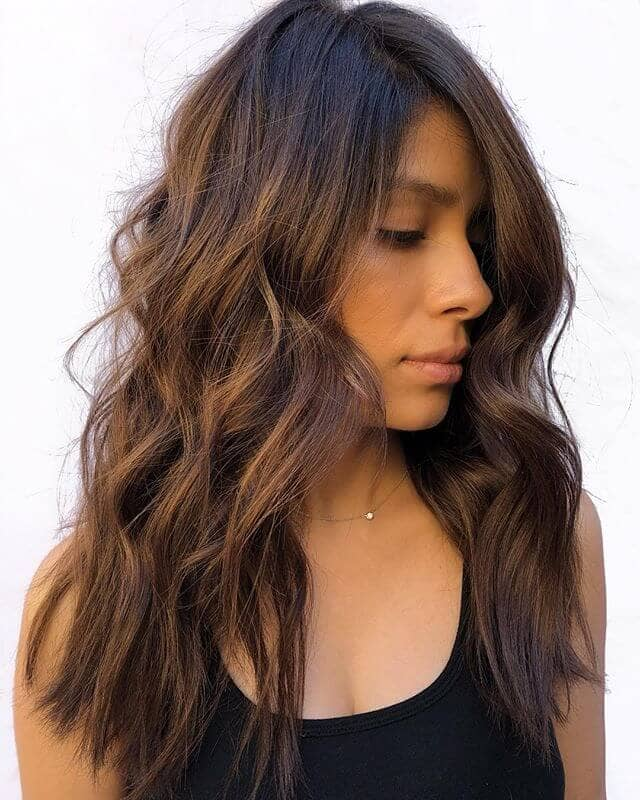 Curled-In-The-Middle Look For Brown Hair
