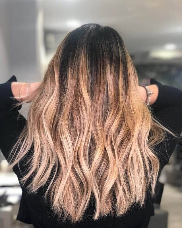 Whole-head Caramel and Blonde Color