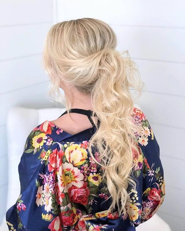 Side-Pinned Tumble Ponytail for Girls