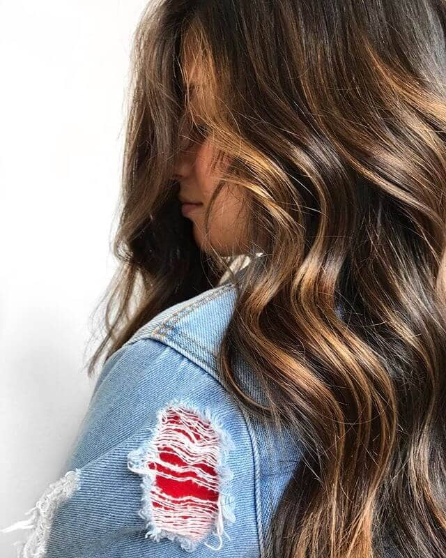 Sexy And Simple Long Brown Curls