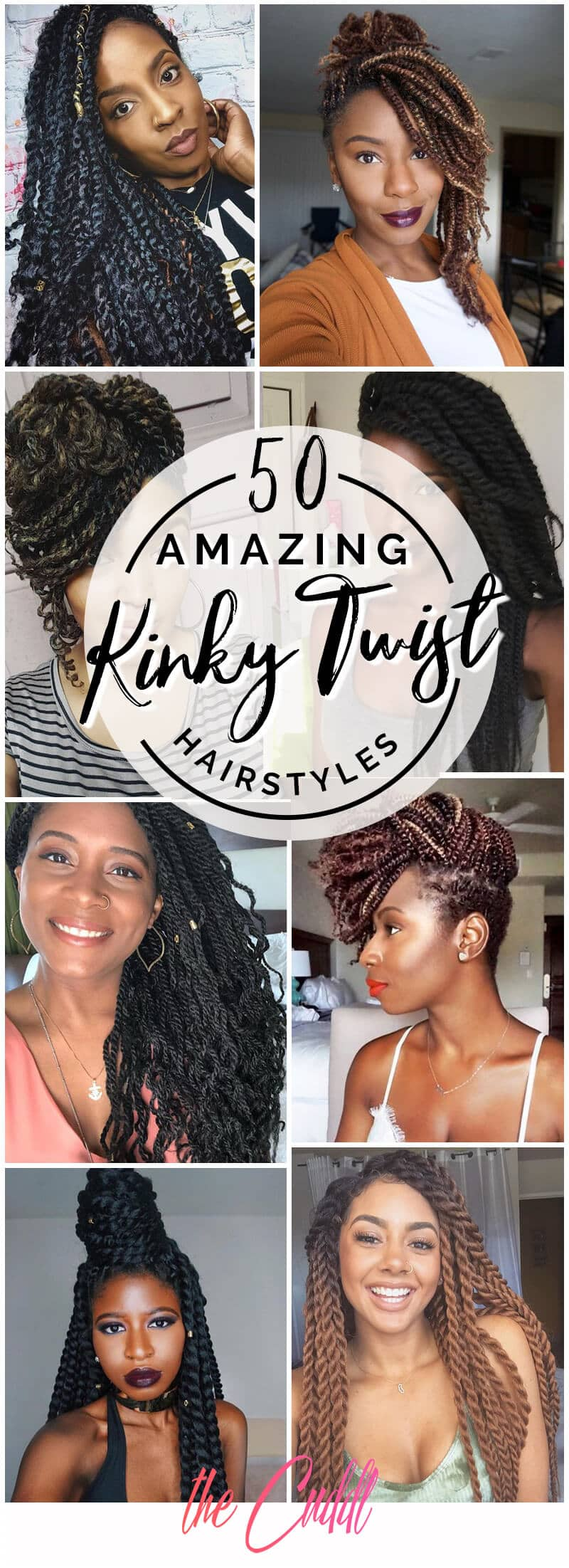 50 Amazing Kinky Twist Hairtyles You Cannot Live Without