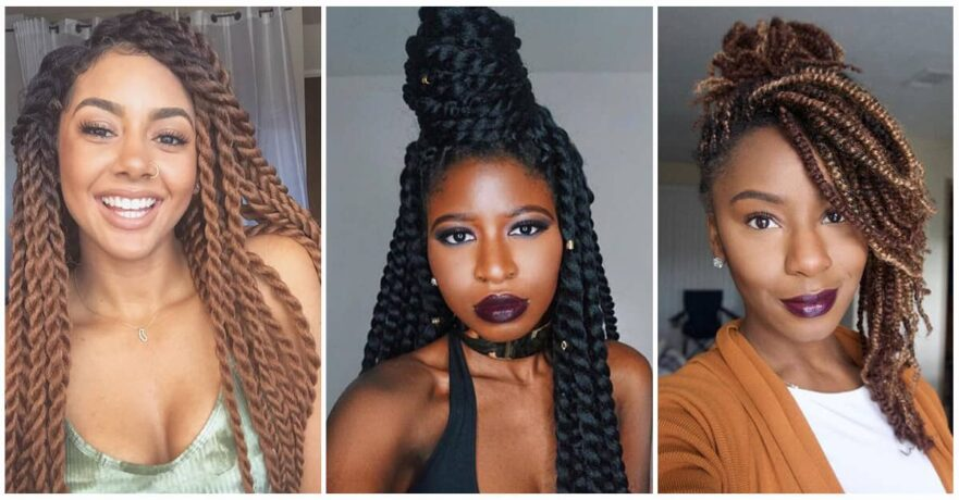 50 Amazing Kinky Twist Hairtyles You Can't Live Without
