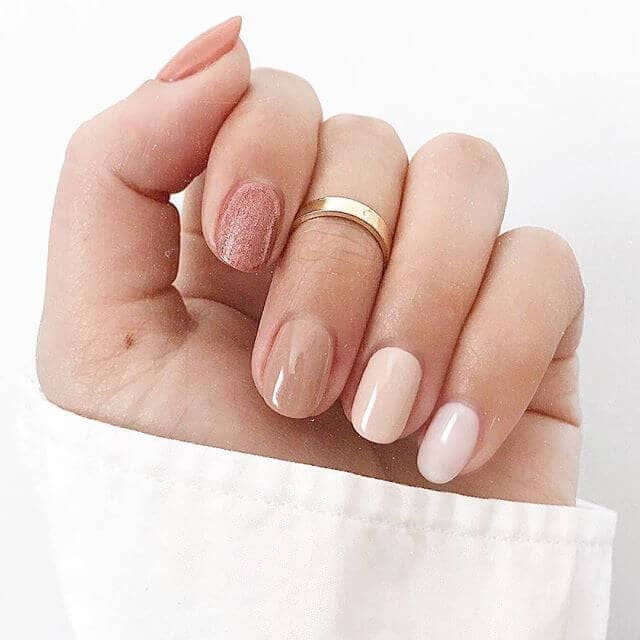 Simply Reserved Yet Stylishly Unique Nude Nails