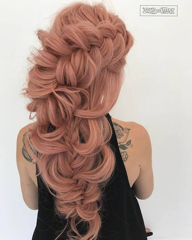 Beautiful Blush Pink Hair Color