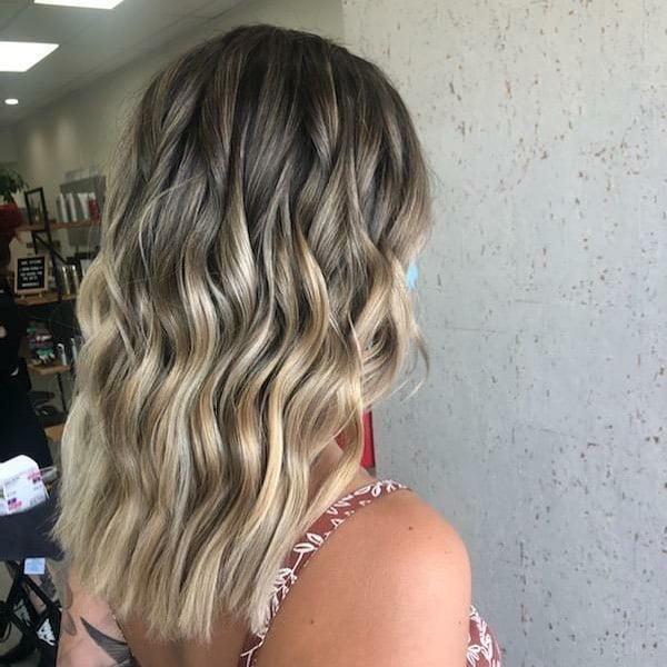 Soft blond Balayage with Undone Waves
