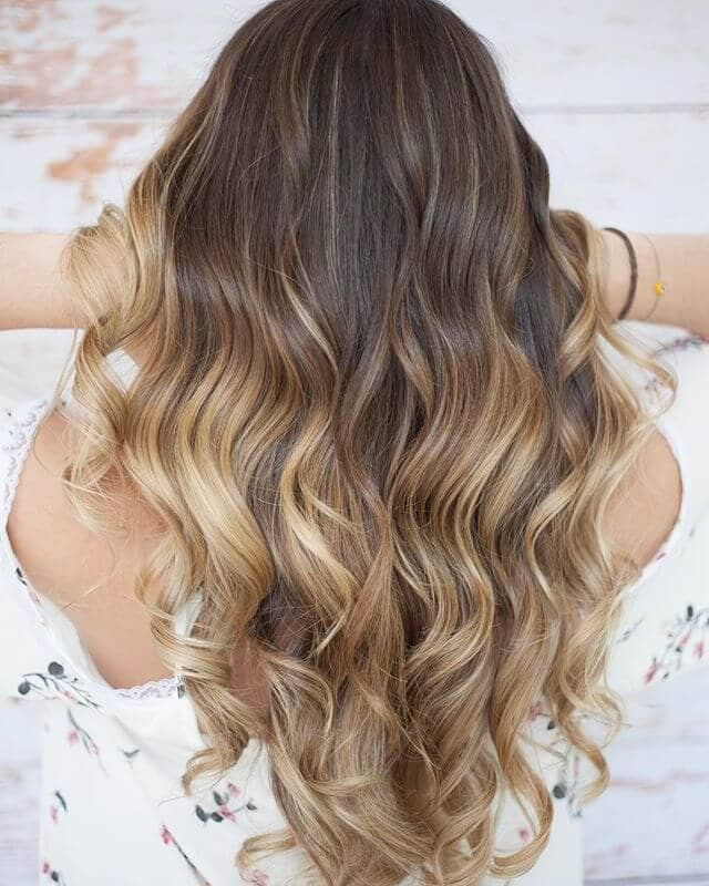 Bright Blonde Ombre Highlights in Loose Waves