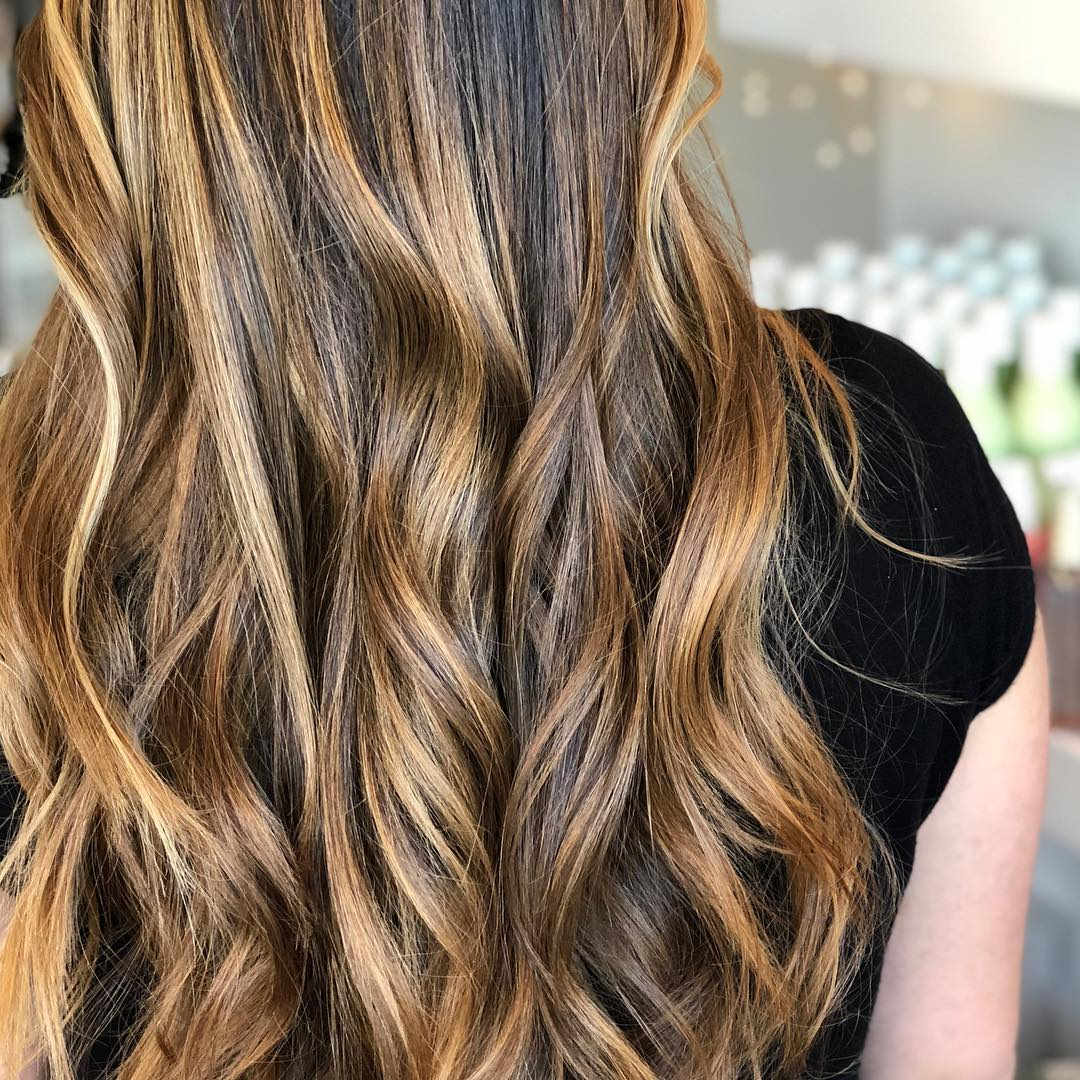 Fun and Wavy Layered Look for Brunettes