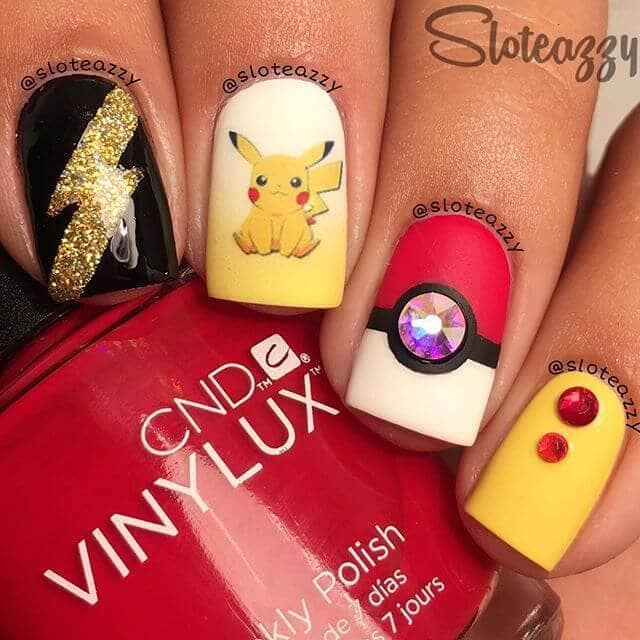 Awesome Pokémon Nails with Glam and Glitz