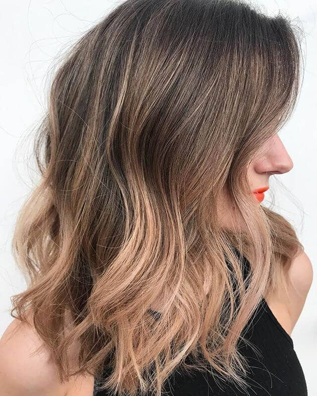 Easy Strawberry Blonde Balayage Highlights