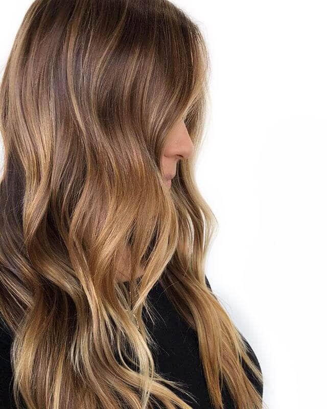 Natural Brown and Blonde Hair with Subtle Highlights