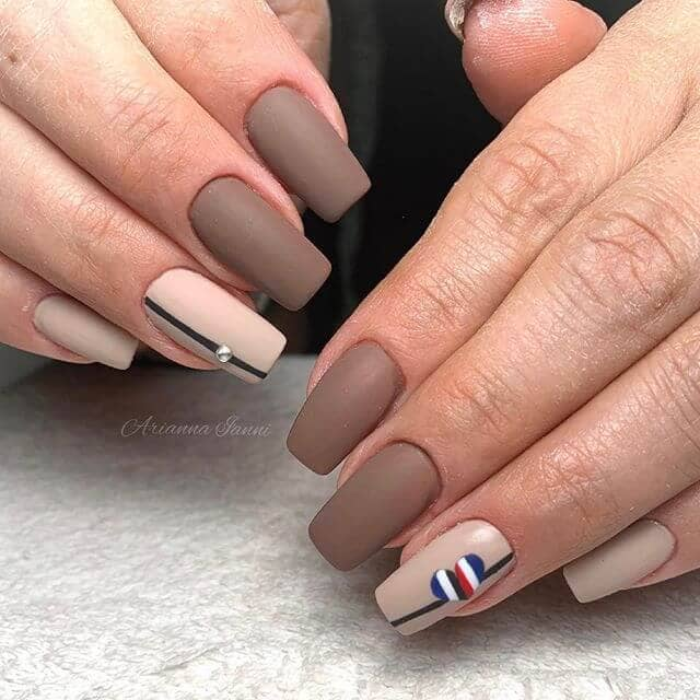 56 Stylish Acrylic Nude Coffin Nails Color Design For