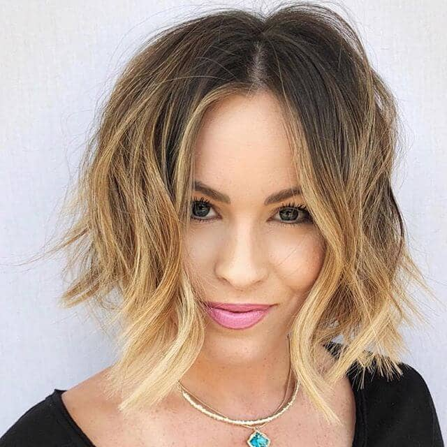 Short Bob Hairstyle with Ombre Waves