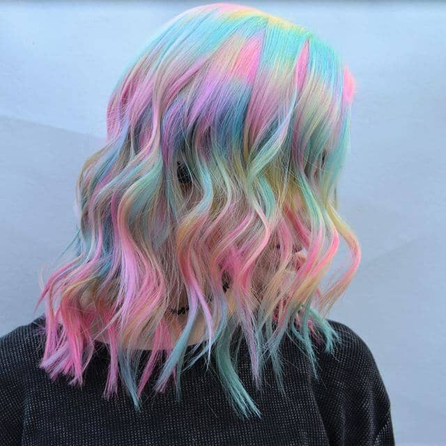 Pastel Unicorn Waves for Long Blunt Layers