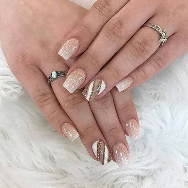 French Manicure Style Cool and Awesome Nude Nails