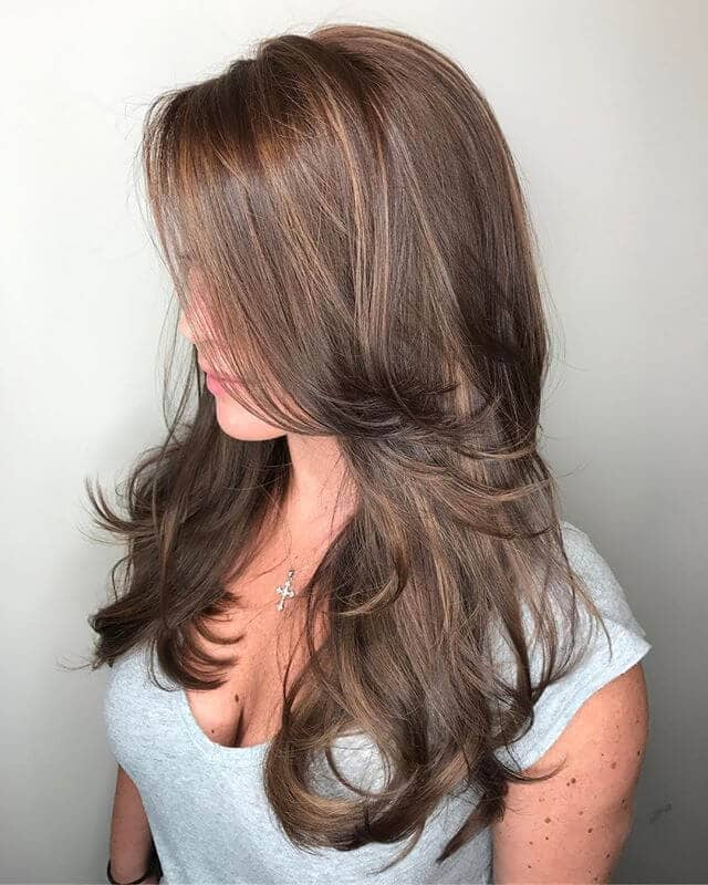 Pretty Side Bangs With Highlights