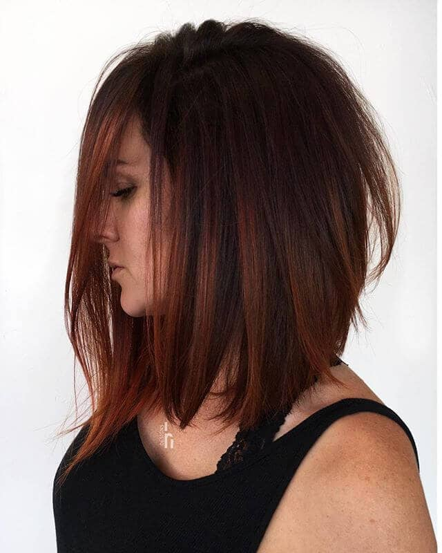 Warm Toned Long Bob