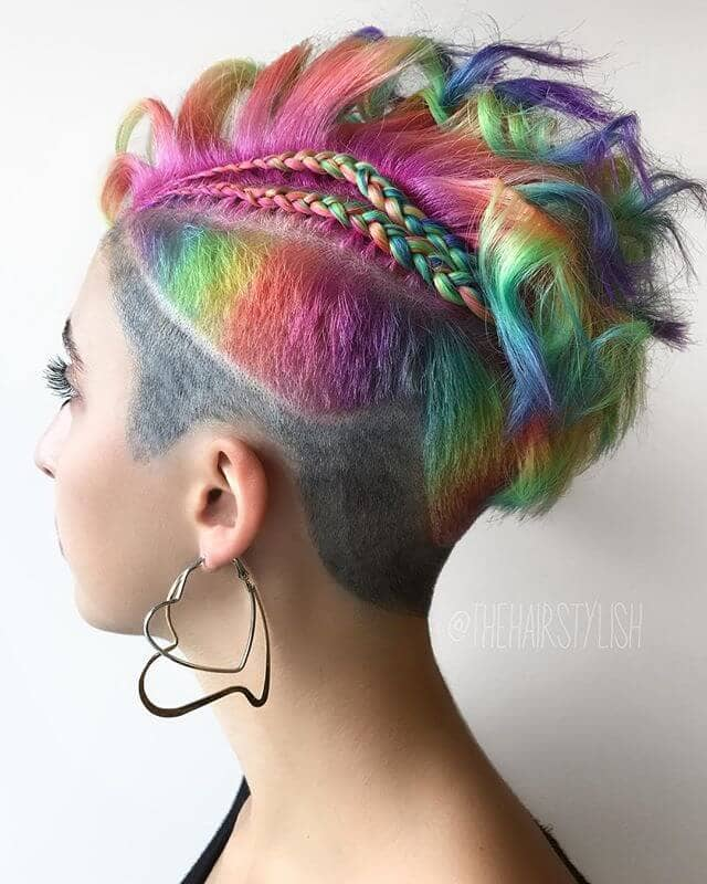 50 Stunning Rainbow Hair Color Styles Trending In 2020