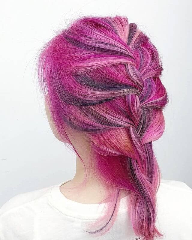 Pink and Purple Passion Balayage