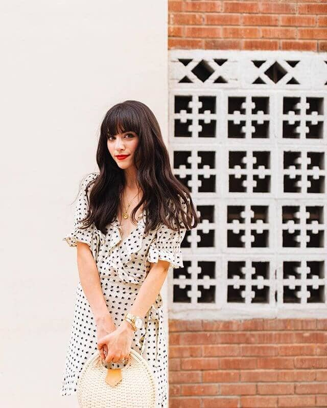Classic, Girlish Look With Front Bangs