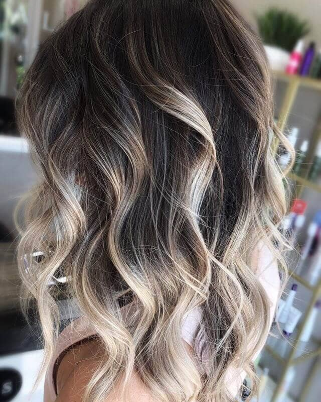 Simple Silver Blonde Ombre Highlights