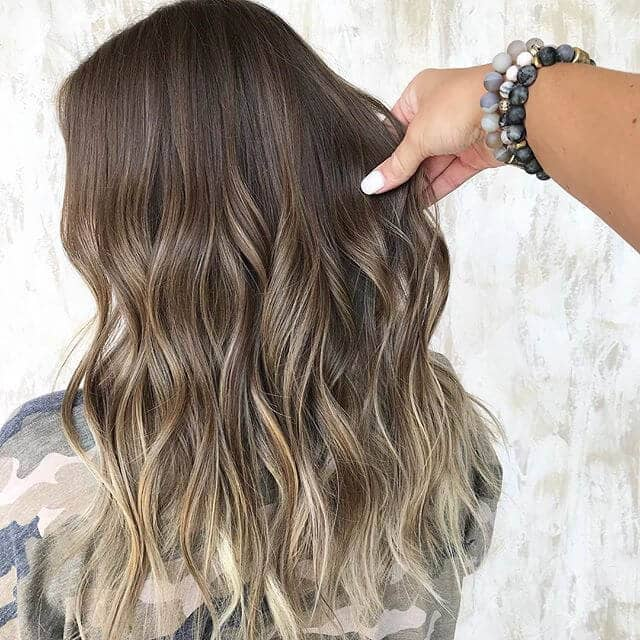 Peachy Blonde Highlighted Tips