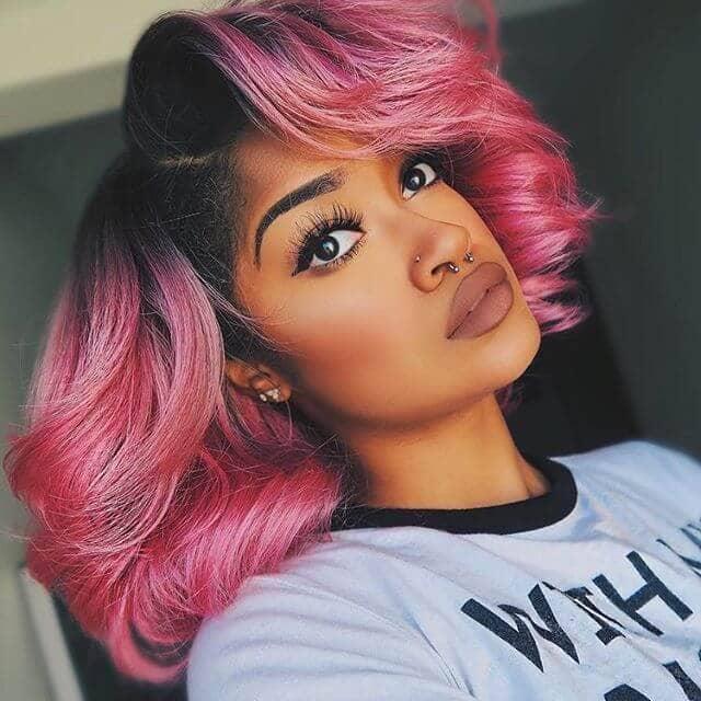 Bubblegum Pink Bombshell Hairstyle