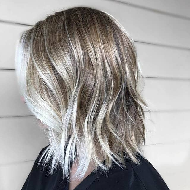 Casual Long Bob with Face Framing Highlights