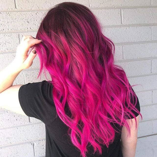 Electric Pink Beach Wave Style