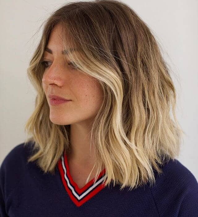 Graduated Long Bob with Gradient Highlights