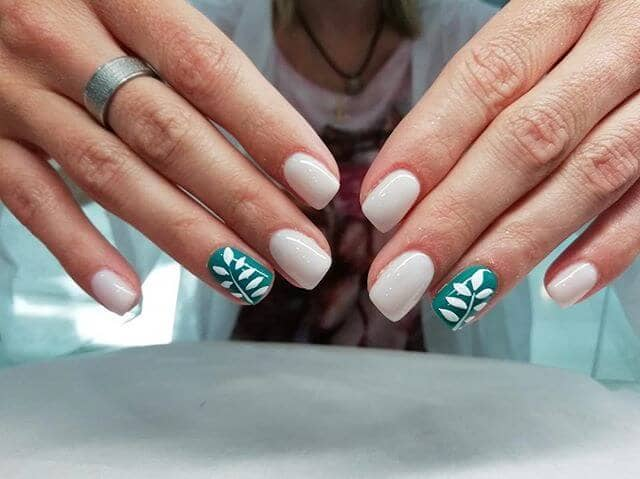 Fancy and Smooth with Leaves Worth Looking At Easy Nails