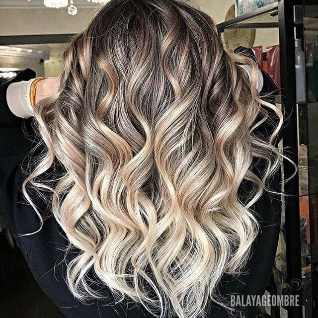 Spotlight Blonde Highlights Curly Brown Hair
