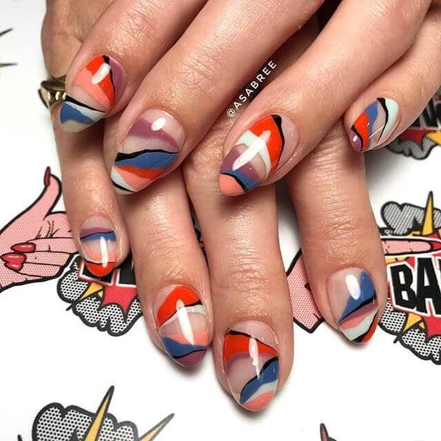 Colorful Not-Crazy Red, White and Blue Pretty Nails
