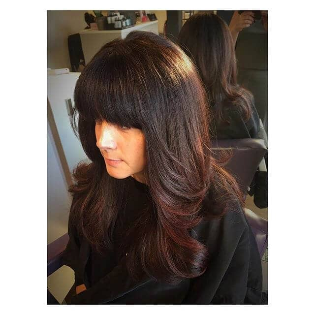 Awesome Retro Bangs With Vintage Side Sweep