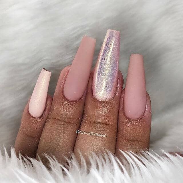 Dazzling Pretty in Pink Party Nails