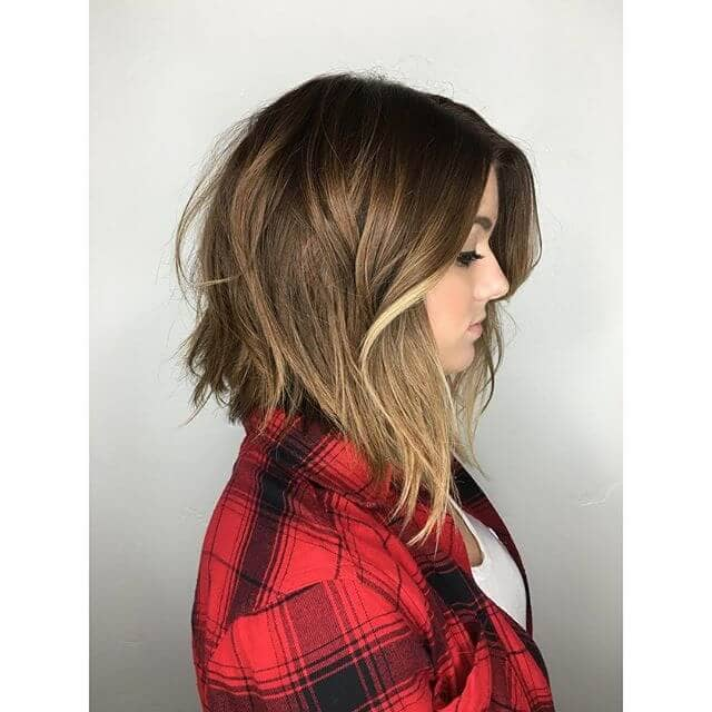 Unique Long Bob with Flared Bangs