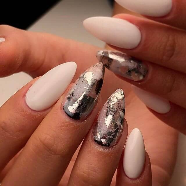 """Art Deco Nails with """"Scratched Paint"""" Appeal"""