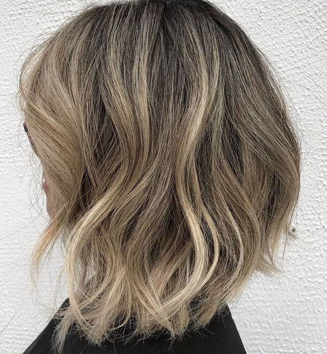 Sophisticated Wavy Long Bob
