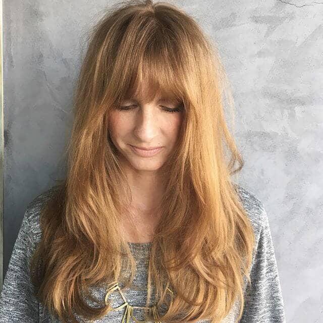 Pretty Straight Bangs for No-Nonsense Hair