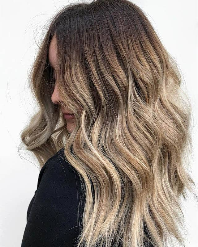 Baby Blonde Highlights in Loose Waves