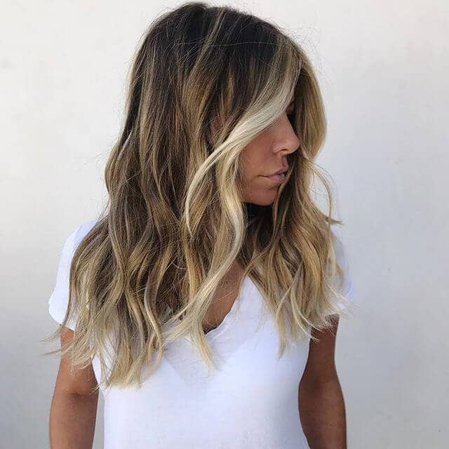 Blonde and Brown Hair with Face Framing Highlights