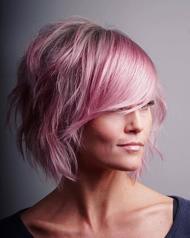 Totally Textured Baby Pink Haircut
