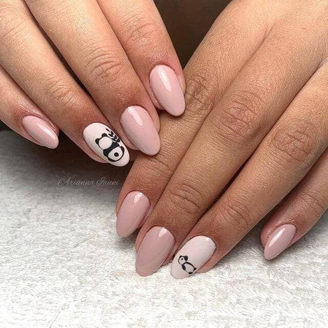 Bamboo and Panda Nails for Nature Lovers
