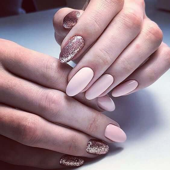 Candied Nails with Sparkly Glittered Accents