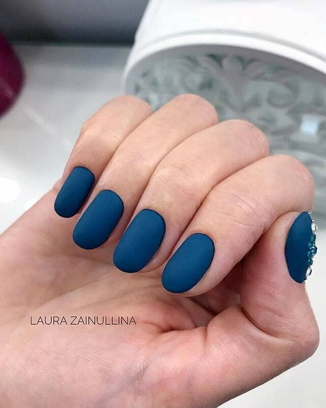 Gorgeous Matte Blue and Bejeweled Accent Thumb