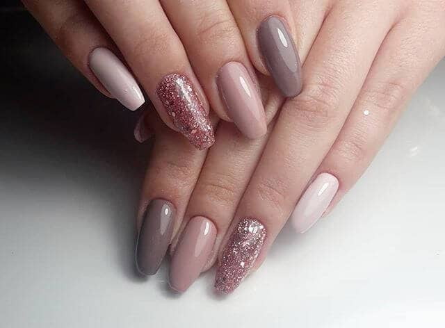 Milky Chocolate and Burnished Rose Cute Nails